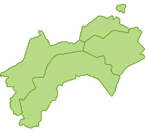 四国電力の電力供給エリア