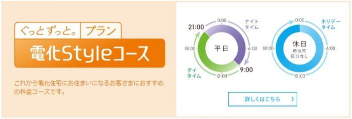 中国電力の電気料金プラン 電化Styleコース